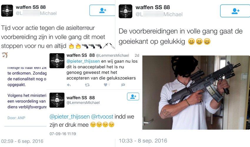 Man uit Hoorn met nazi dreigtweets is aangehouden