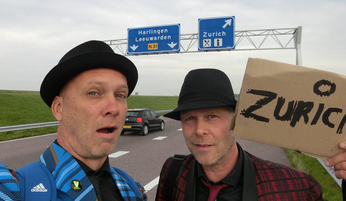 Duimenrace 2016; Liftend vanaf Hoorn voor rondje IJsselmeer