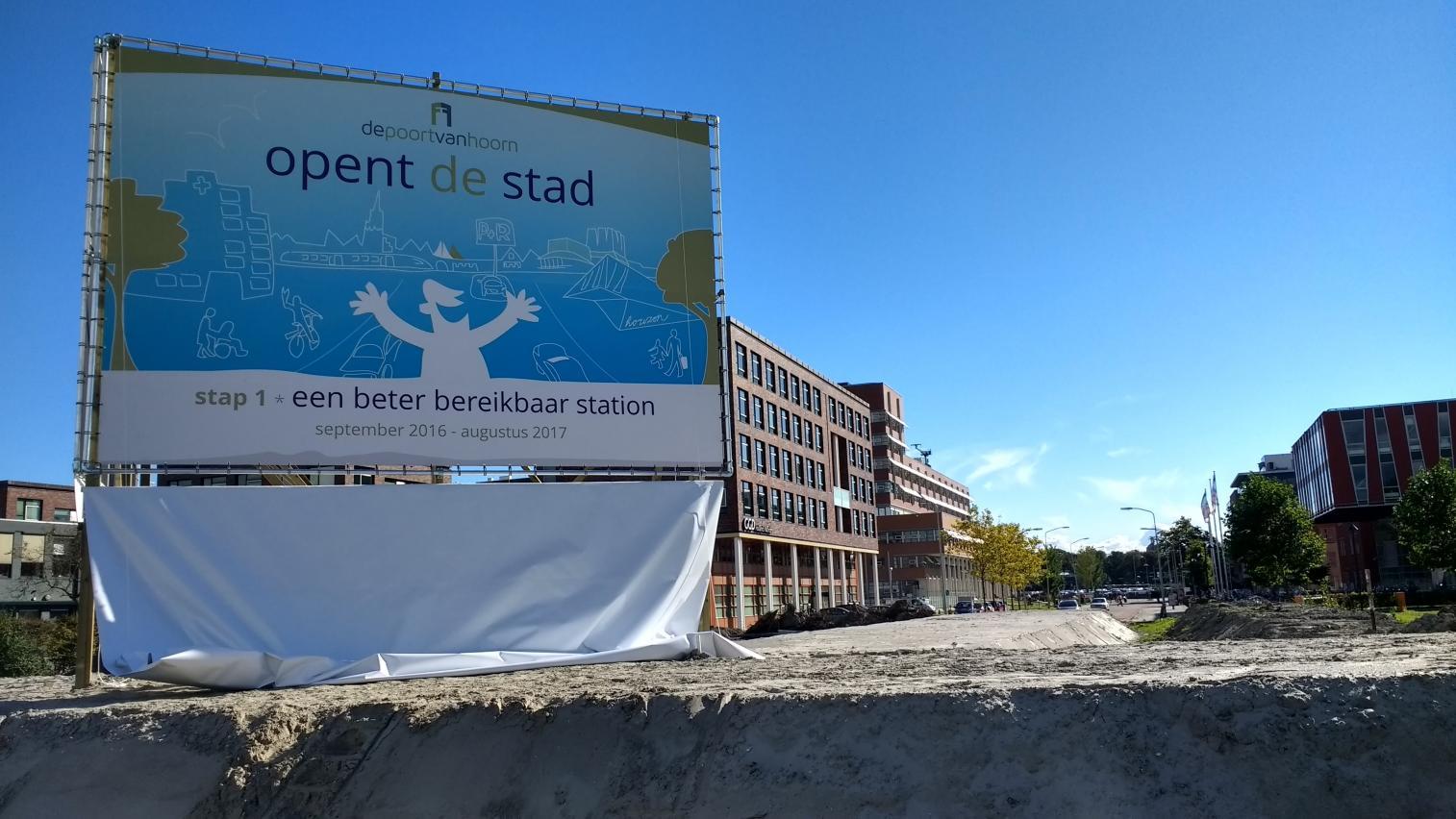Aansluiting Maelsonstraat stap 1 in Poort van Hoorn