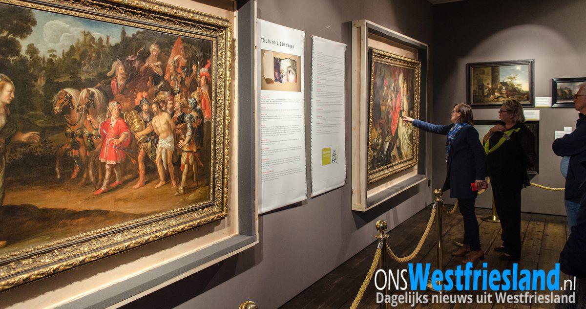 Bijna 3.500 bezoekers gestolen schilderijen Westfries Museum