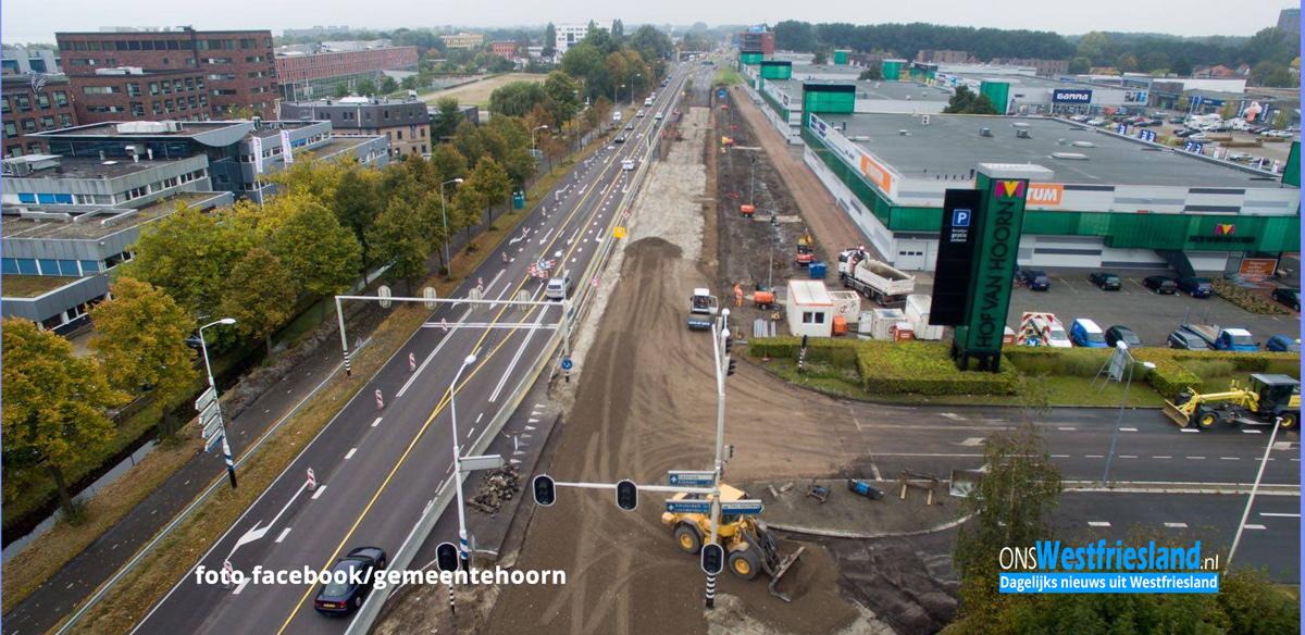 Werkzaamheden Provincialeweg Hoorn op andere rijbaan