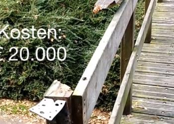 Gemeente Hoorn is vernielingen in het Risdammerhout in Hoorn zat