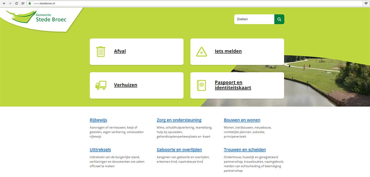 Nieuwe website Stede Broec klaar voor digitale dienstverlening