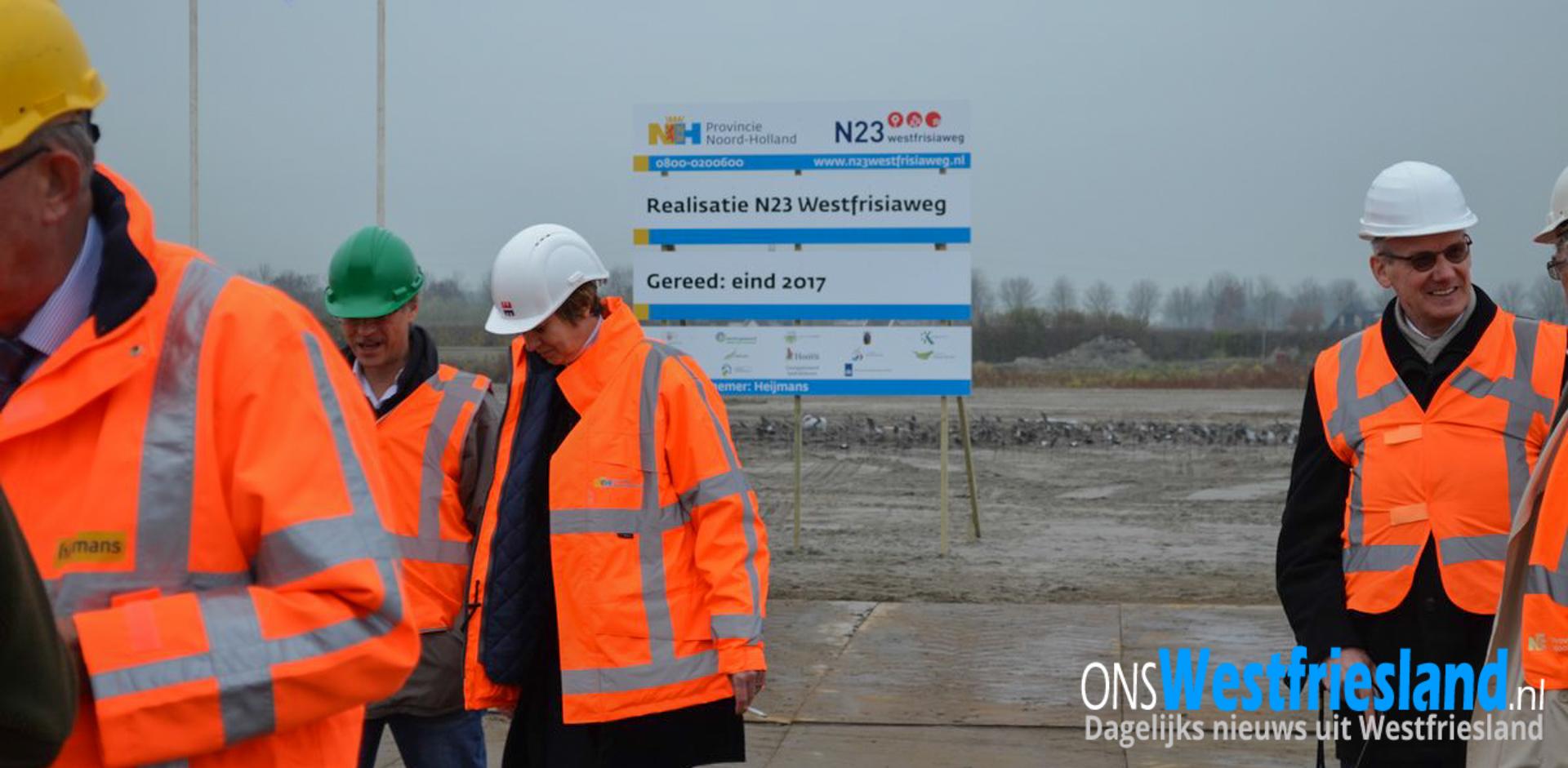Provincie: 'Heijmans schort alle werkzaamheden N23 Westfrisiaweg op'