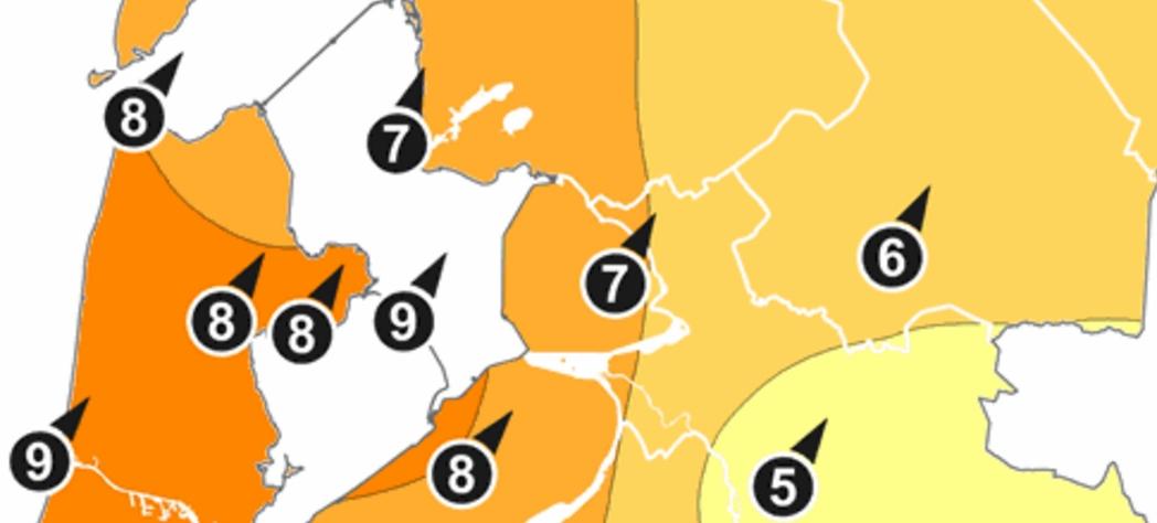 Herfststorm over Westfriesland; diverse meldingen stormschade