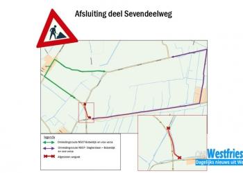 Sevendeelweg (Berkhout en Bobeldijk) jaar afgesloten voor auto's