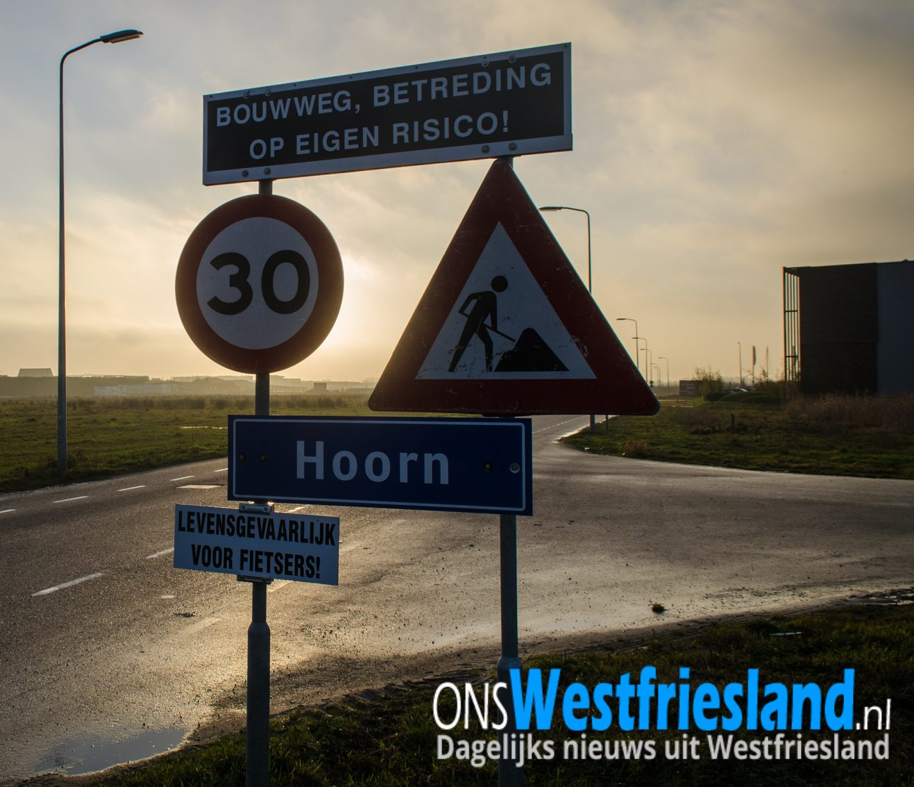 Reactie gemeente Hoorn over fietsen bij 'Levensgevaarlijk' Zevenhuis