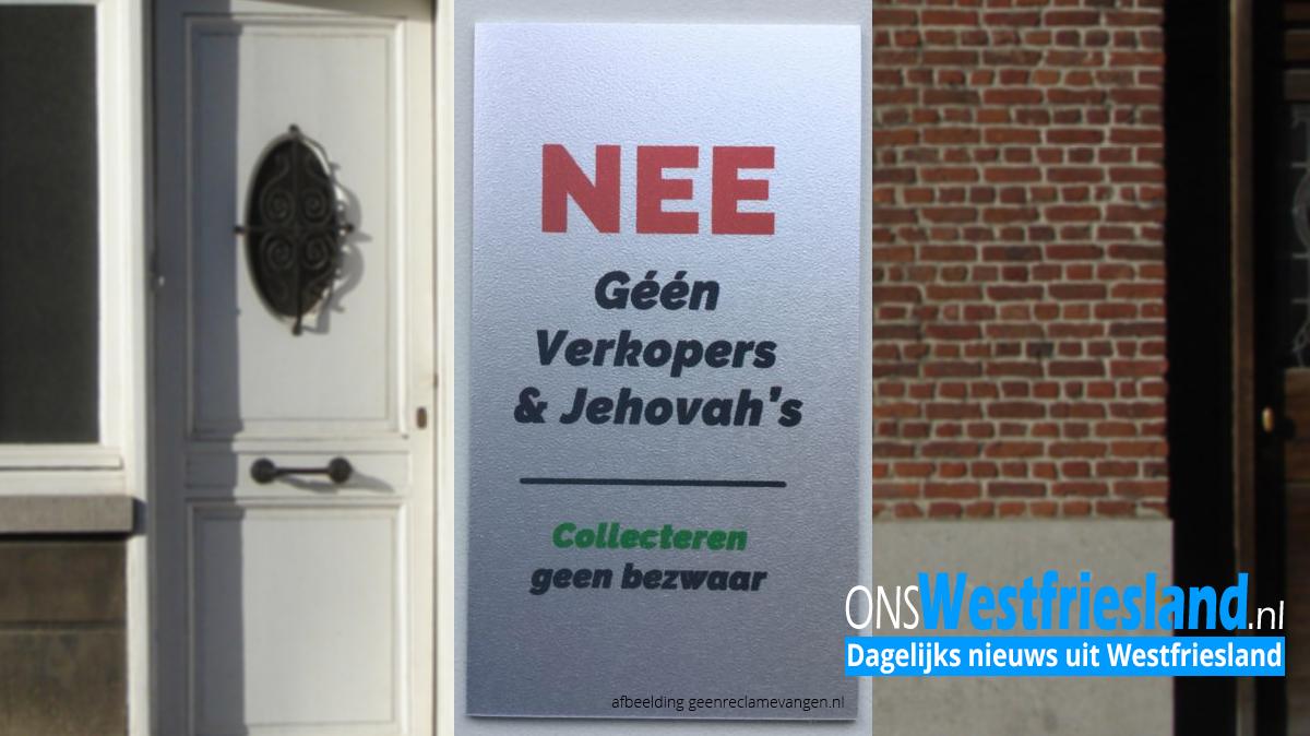 VOCH: 'Hoorn stel gratis anti-colportage stickers beschikbaar'