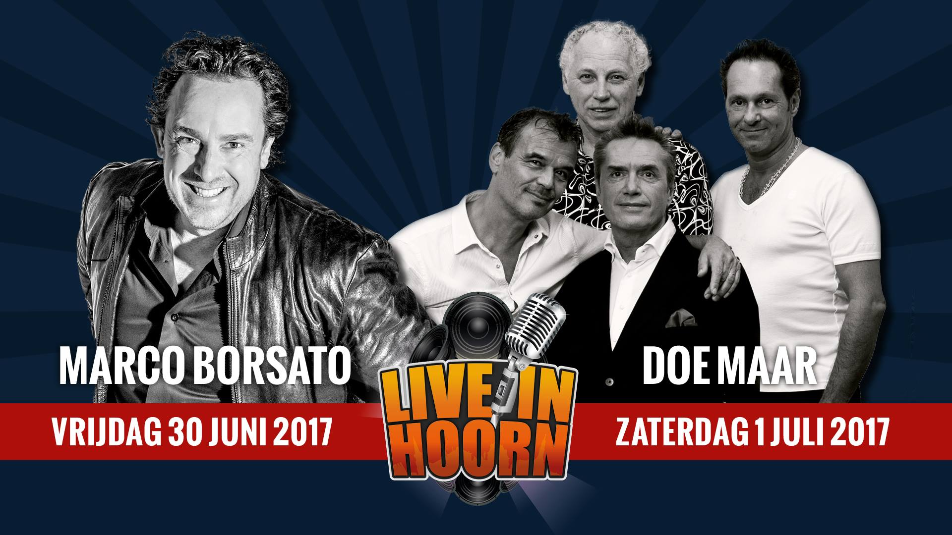 Marco Borsato en Doe Maar naar Live in Hoorn 2017