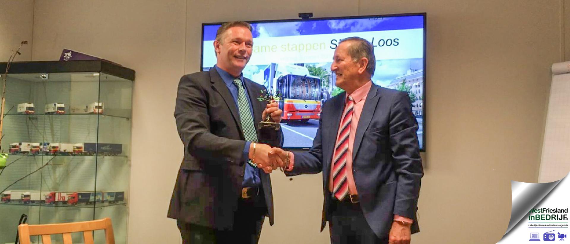 Award Duurzaam Ondernemen Medemblik voor Taxi Kaijer