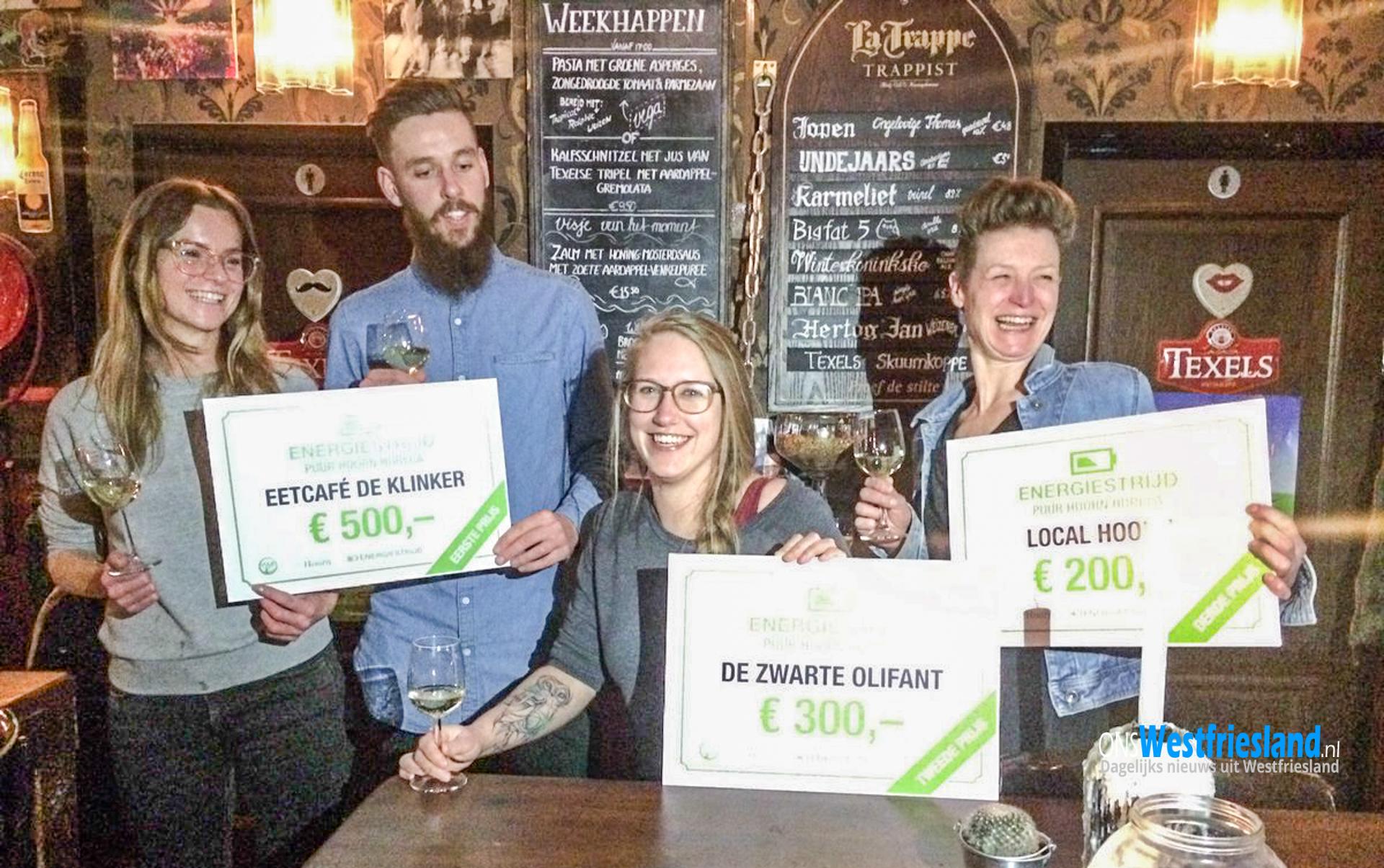De Klinker winnaar Puur Hoorn Horeca Energiestrijd