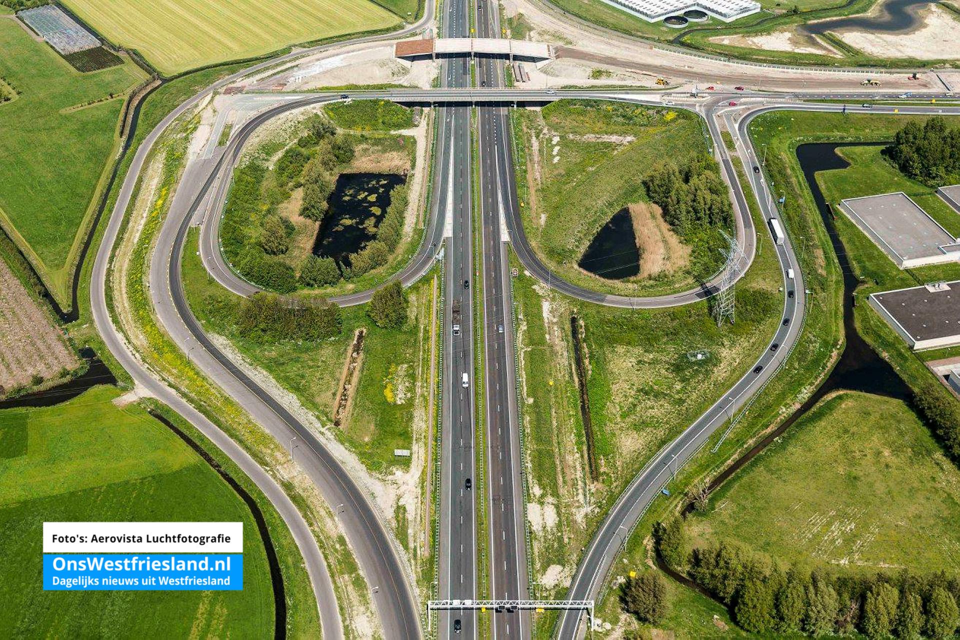 Prachtige luchtfoto's werkzaamheden N23 Westfrisiaweg