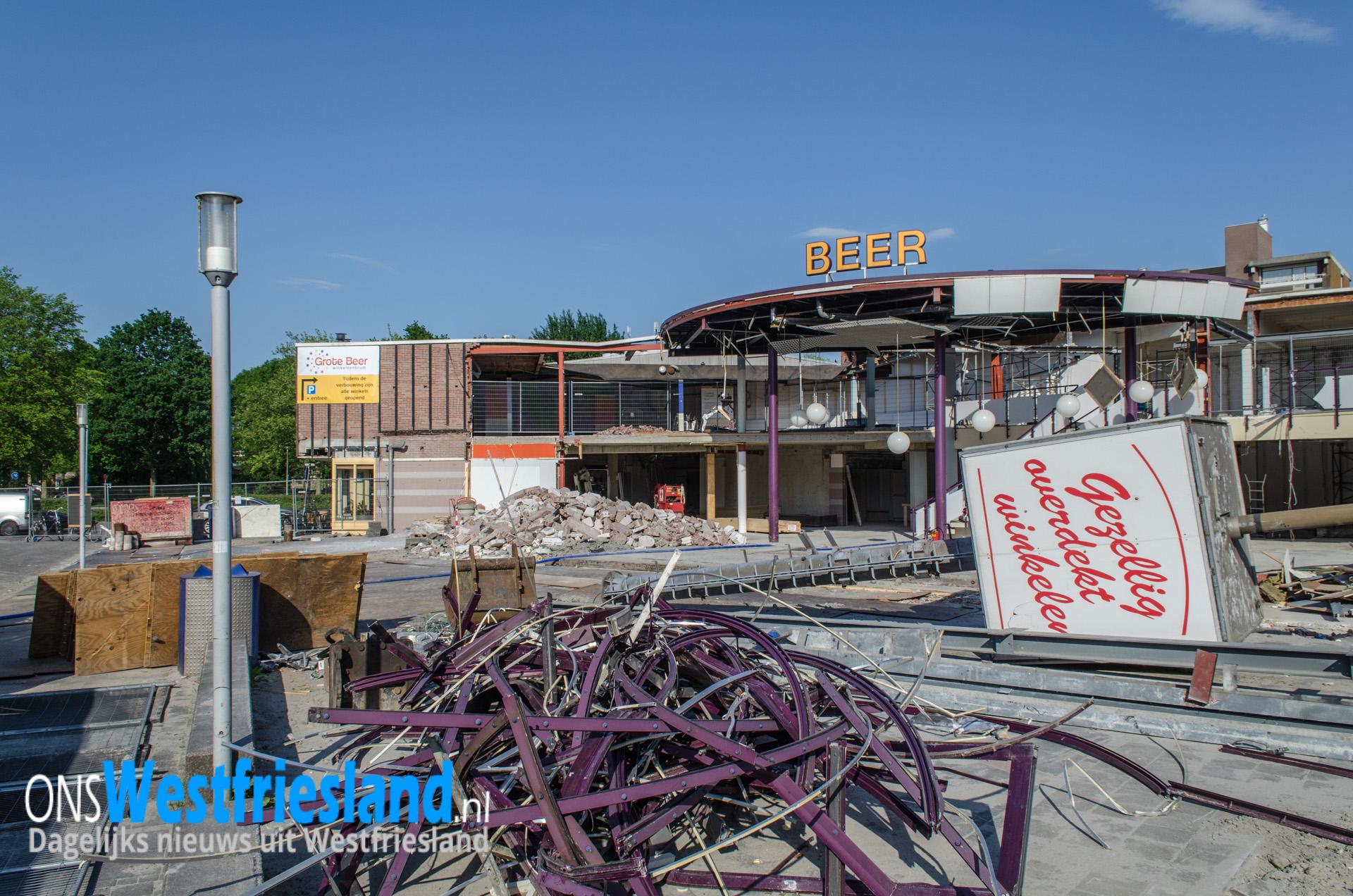 Verbouwing Winkelcentrum Grote Beer in foto's en video's