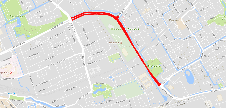 Provincialeweg tussen Zwaagmergouw en Rijnweg zondag dicht