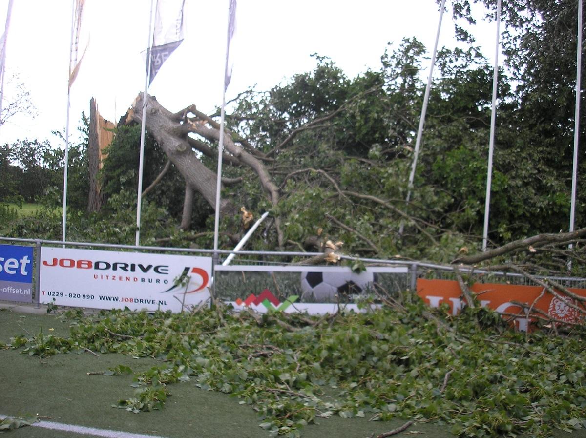 Sportcomplex Westfriezen dicht vanwege stormschade