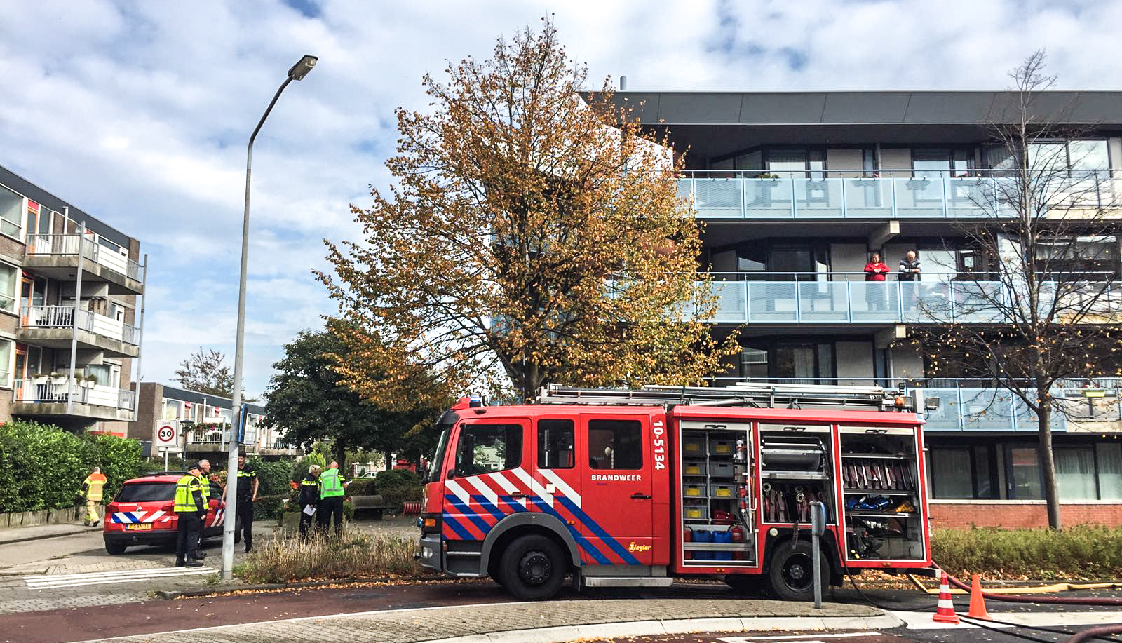 Ontruiming bij brand Zorgcentrum Betsy Perk in Hoorn