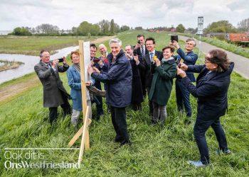 Dijkgraaf en burgemeesters lanceren fotoproject Westfriese Omringdijk