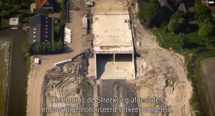 Afsluiting Streekweg bij viaduct tot en met 6 juni [video]