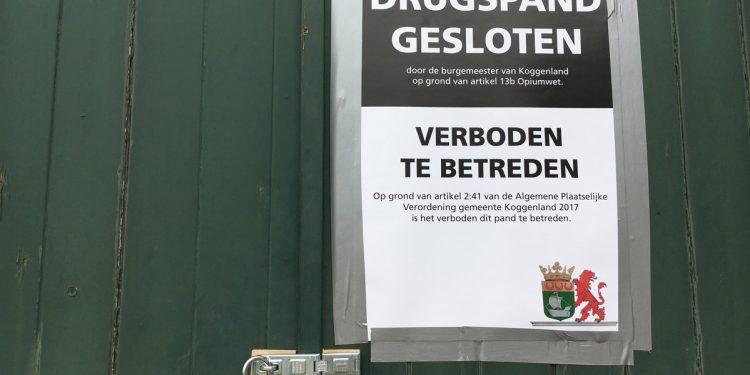 Burgemeester Koggenland sluit drugsschuur Spierdijk