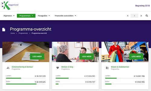 Koggenland: 'Online begroting is makkelijk en transparant'