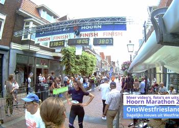 Marathon Hoorn 2018: Finish video Youtube [alle afstanden]