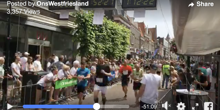 Marathon Hoorn 2018: Finish video Facebook [alle afstanden]