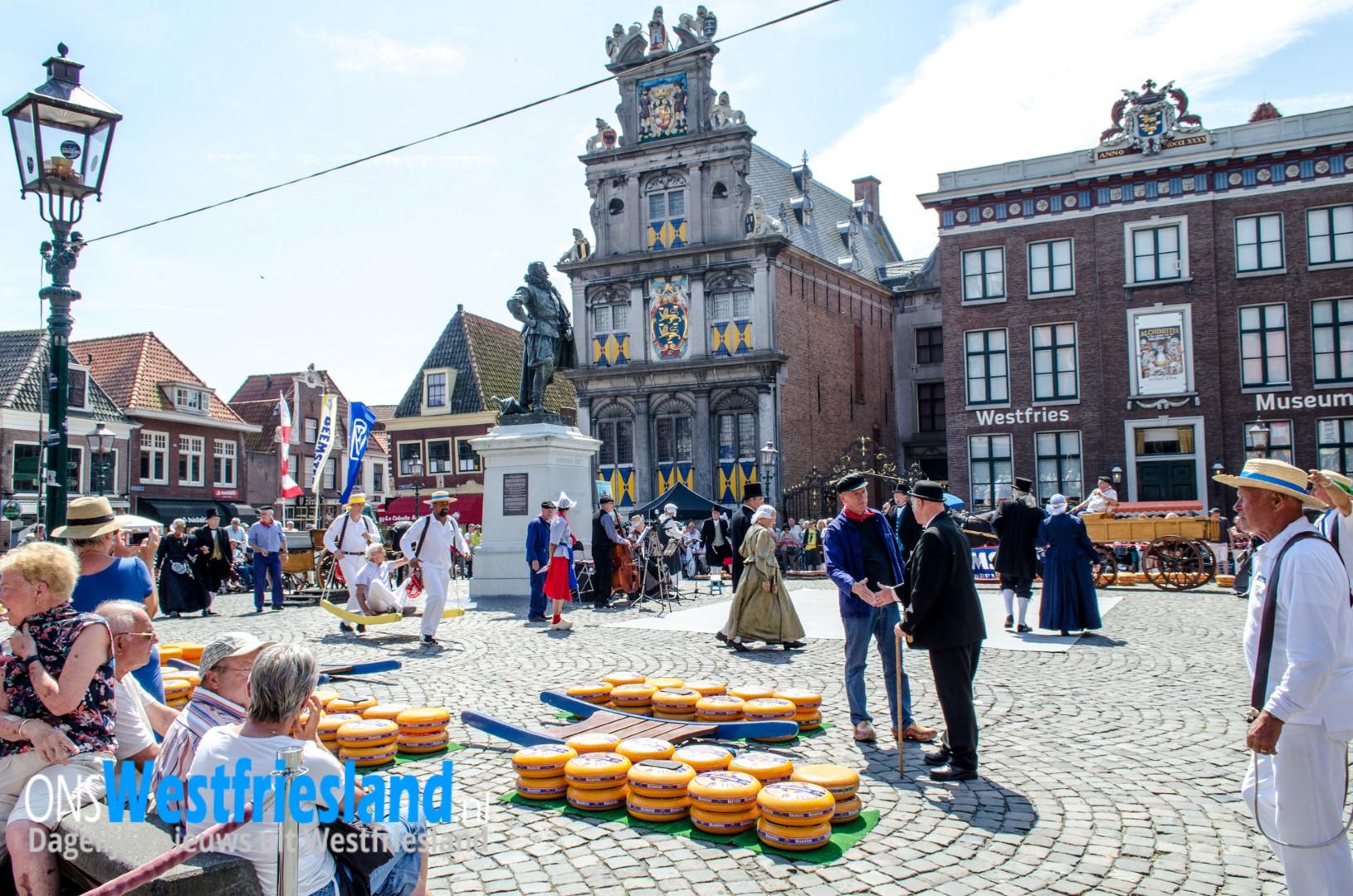 Kaasmarkt Hoorn gaat niet door vanwege warmte