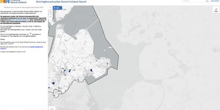 Kijk digitaal waar nieuwe woningen in Noord-Holland Noord komen