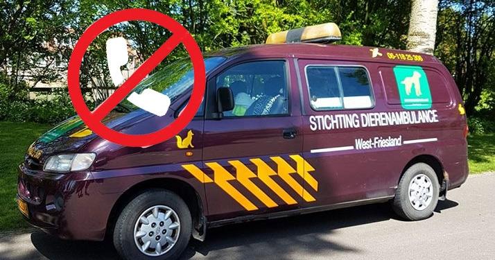 St. Dierenambulance West Friesland rijdt niet meer uit