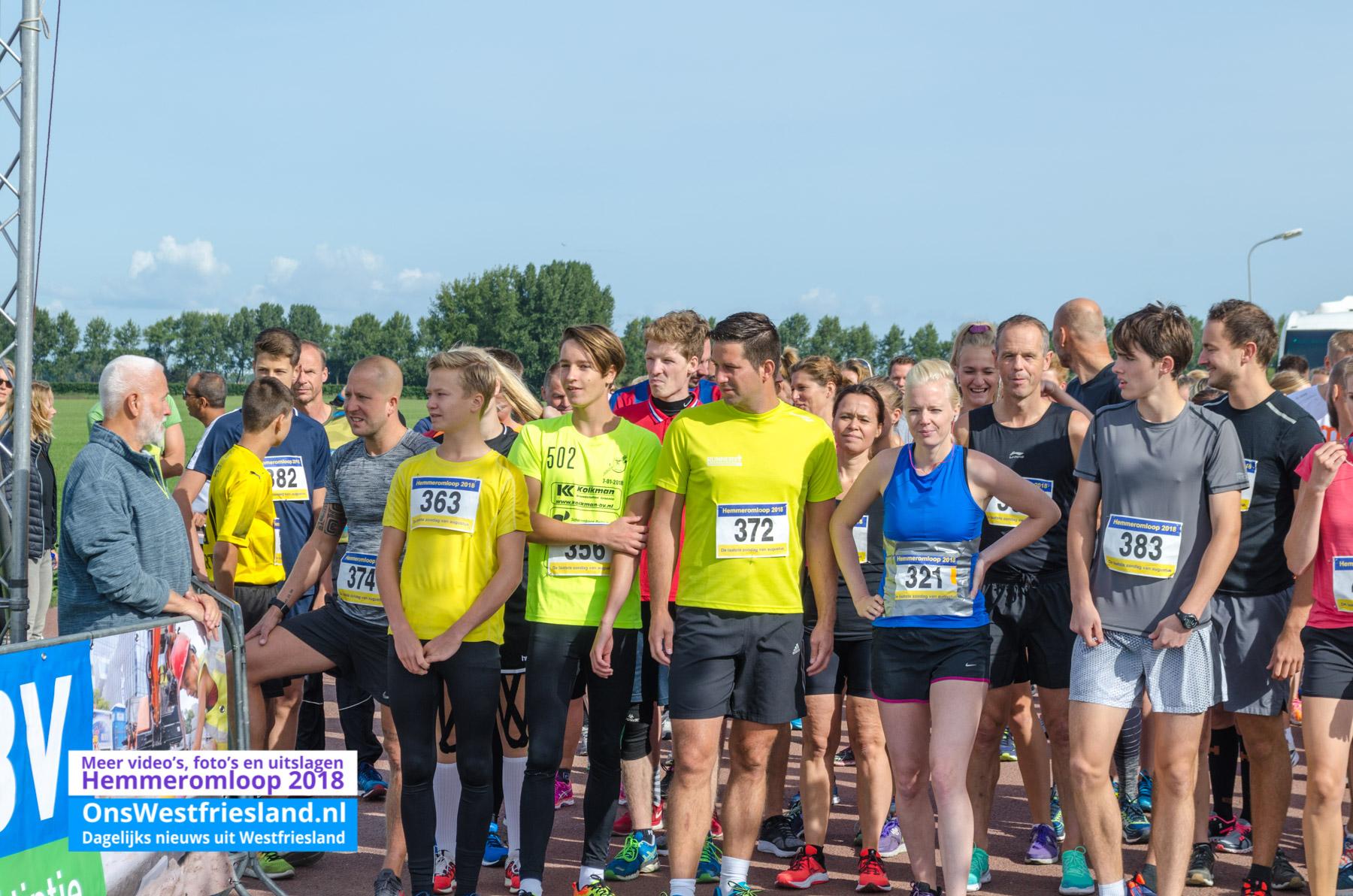 Foto's Hemmeromloop 2018 – 6 km start en eerste ronde
