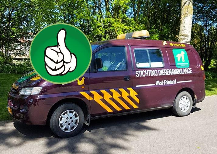 Dierenambulance Westfriesland kan weer op pad