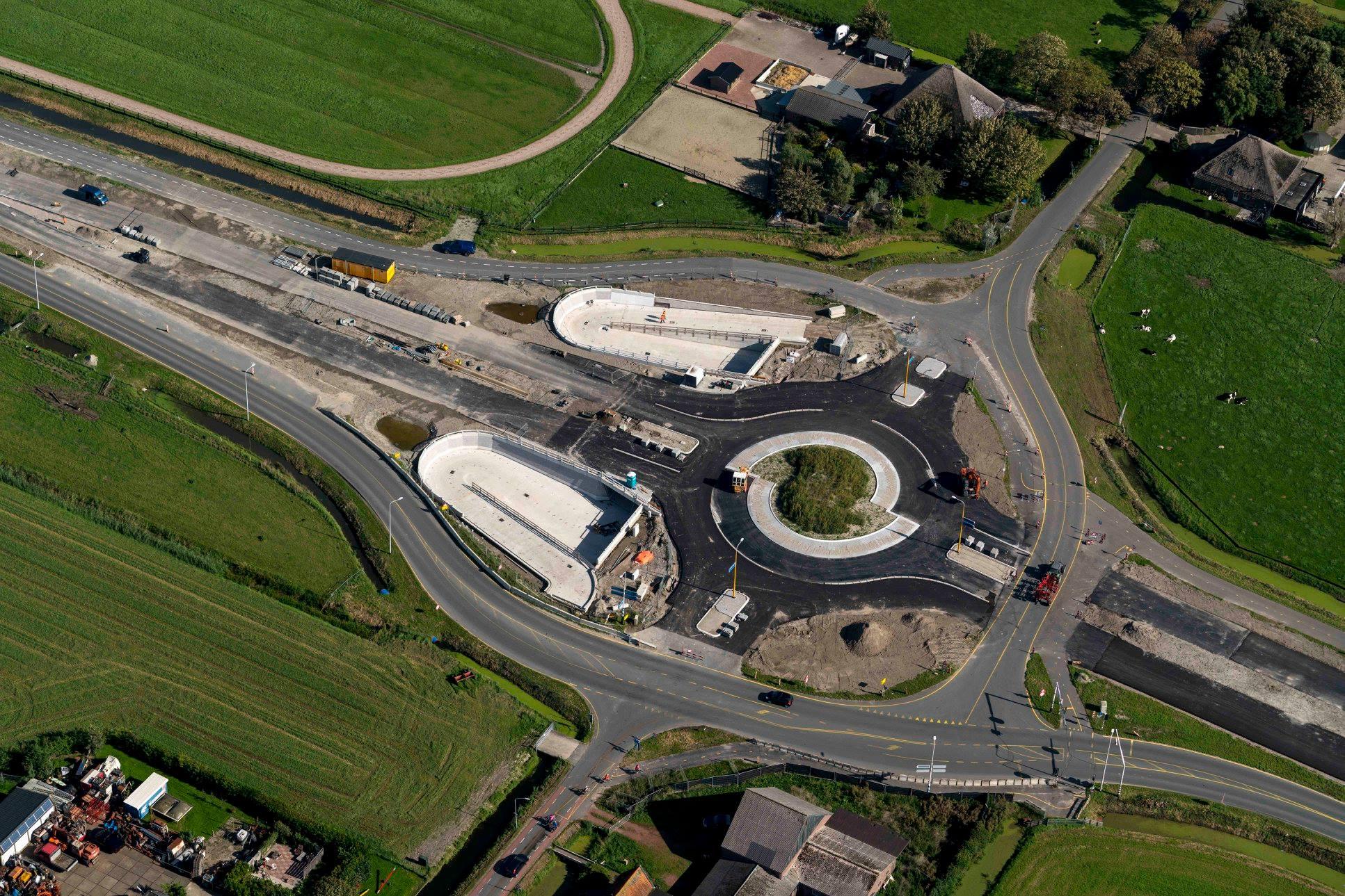 Misschien wel laatste luchtfoto's voortgang N23 Westfrisiaweg [fotos]