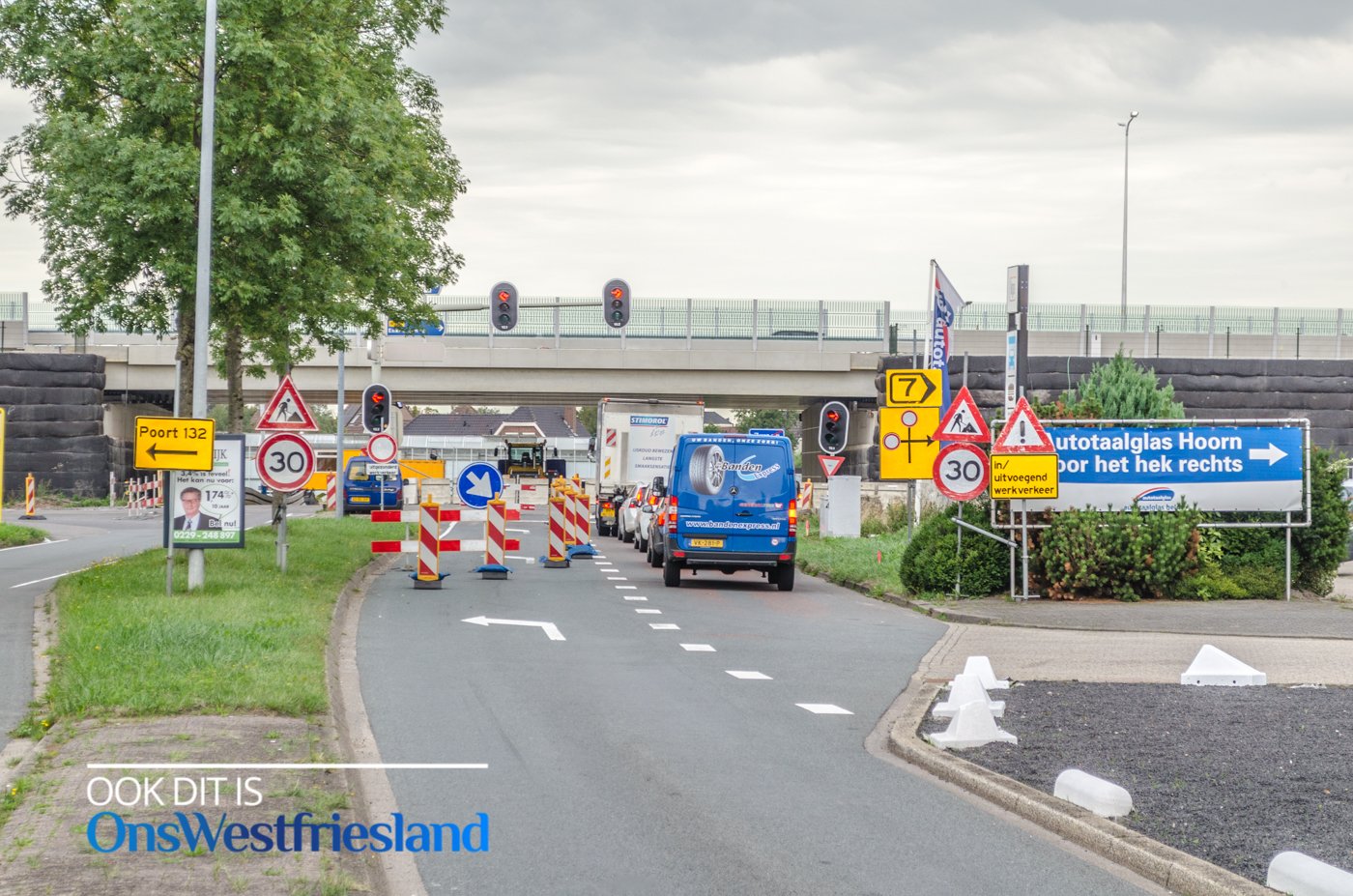 Werkzaamheden aansluiting Oostergouw op Westfrisiaweg [foto's+video]