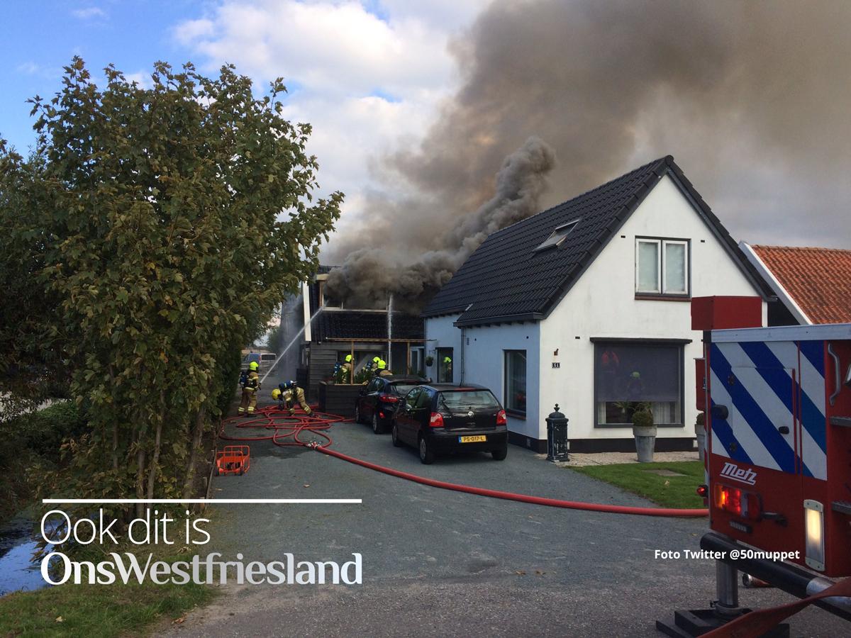 Grote brand in woning aan Verlaatsweg Spierdijk (update)