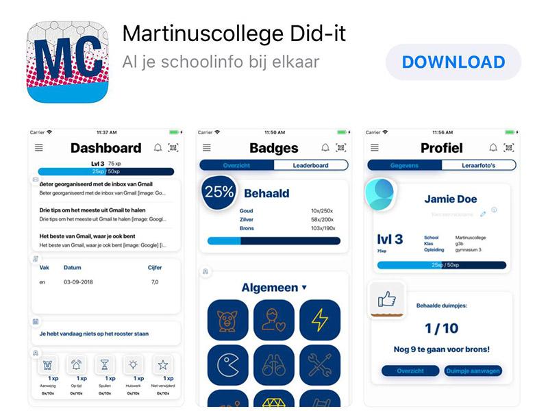 Martinuscollege heeft eigen app
