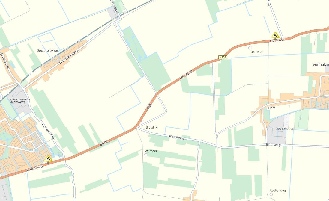 N506 tussen Schellinkhout en De Hout 2 avonden dicht