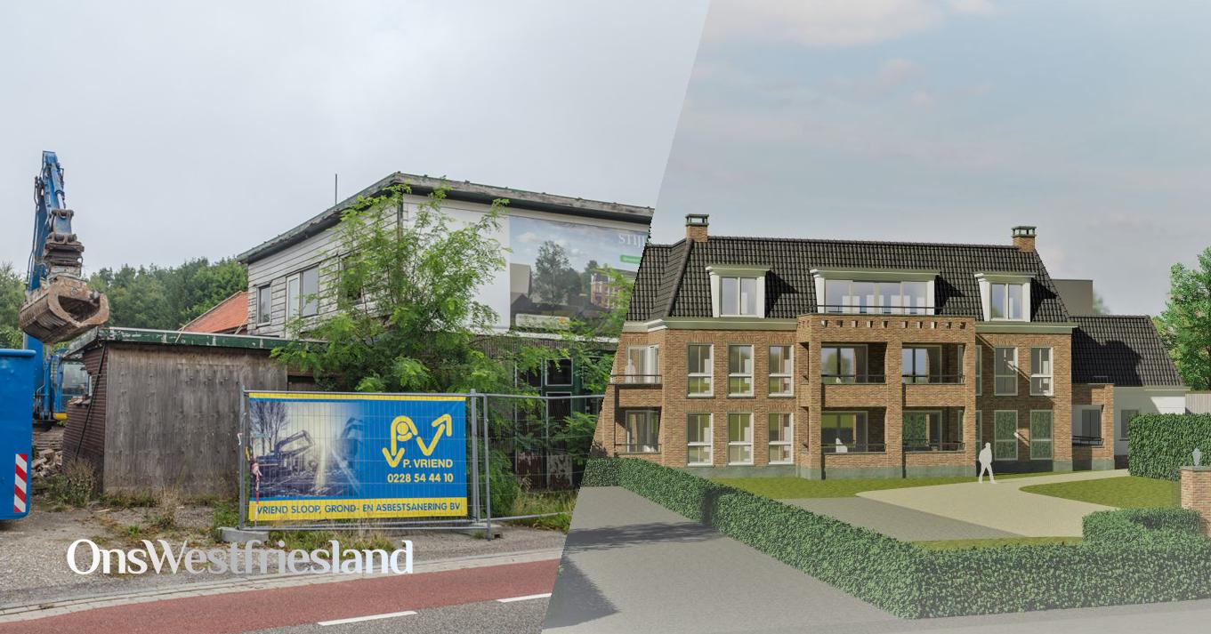 Oud maakt plaats voor nieuw aan de Dorpsstraat in Zwaag