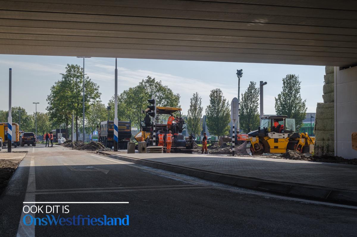 Kruising Oostergouw N307 weer open [foto's werkzaamheden]