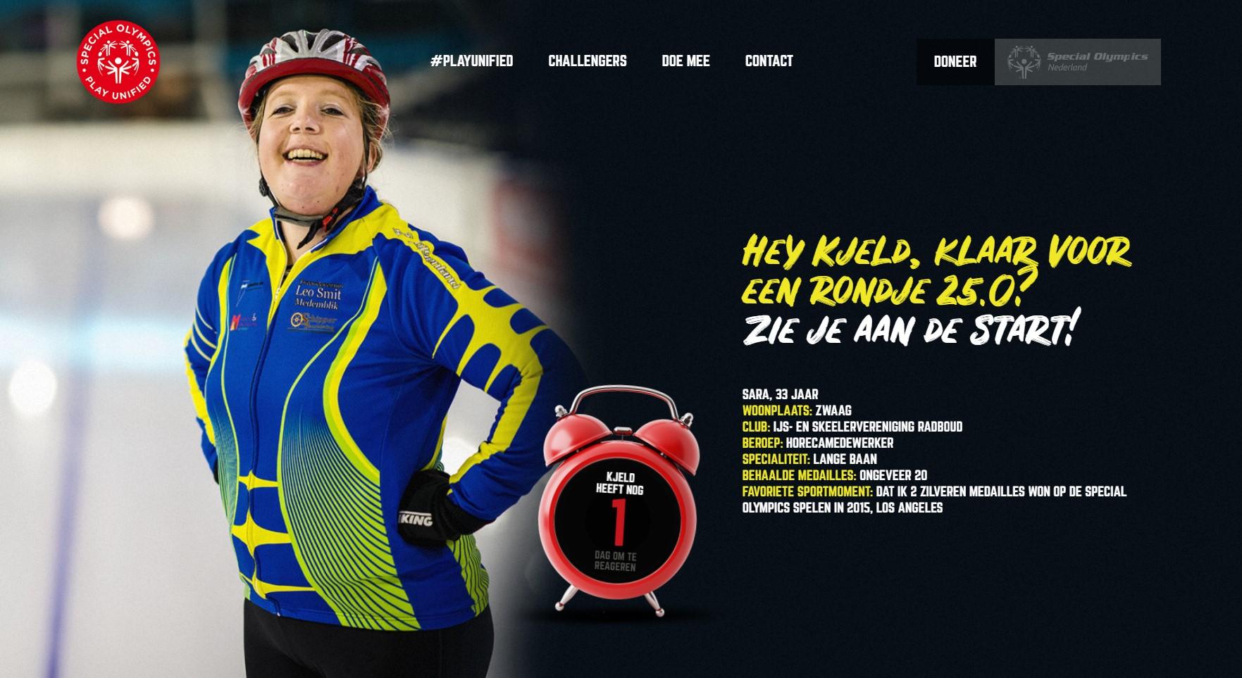 Sara Oud (Zwaag) daagt Olympisch kampioen Kjeld Nuis uit
