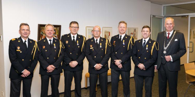 Koninklijke onderscheiding voor brandweervrijwilligers Berkhout