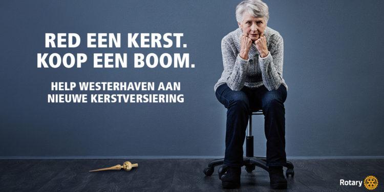 Rotaryclub Hoorn-de Compagnie in (kerst)actie voor Westerhaven