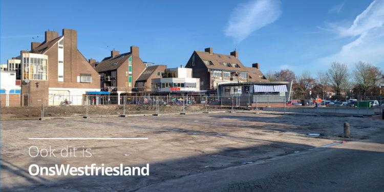 Tijdelijke parkeerplaatsen winkelcentrum Huesmolen