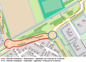 Onderhoud asfalt rondom rotondes Oostergouw en Krijterslaan (update)