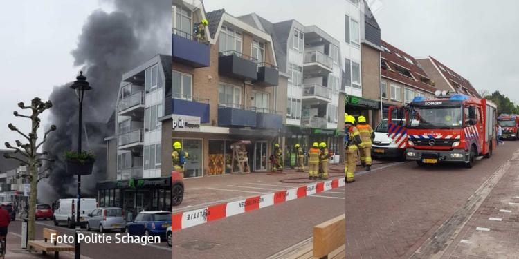 Twee gewonden bij brand in winkelpand Schagen