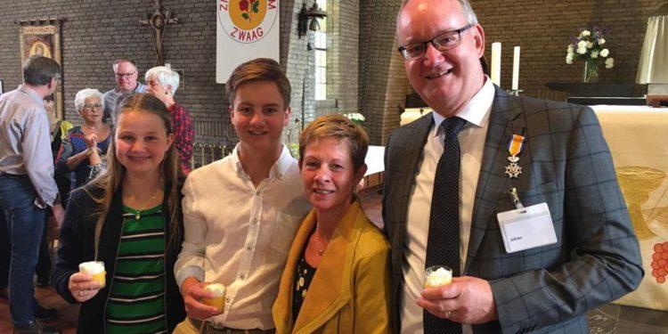 Koninklijke onderscheiding Johan Tiessing uit Zwaag