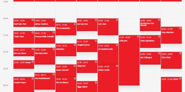 Hoornse Stadsfeesten; Geen lachgas wel weekend vol muziek [blokkenschema]