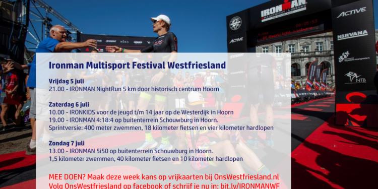Vrijkaarten winnen voor Ironman Multisport Festival Westfriesland