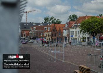 Centrum Hoorn wordt omgebouwd voor Ironman Westfriesland [fotos]
