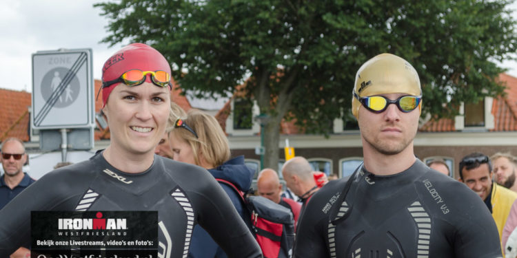 Foto's Ironman Westfriesland – 5i50 – Fietsincheck en voor zwemstart