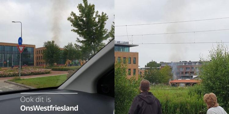 Schuurbrandje op industrieweg Grootebroek snel geblusd
